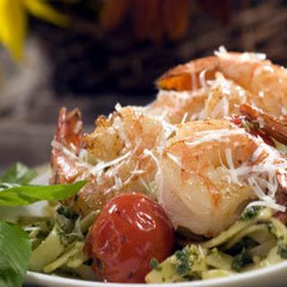 Pesto Shrimp Withpan-roasted Tomatoes