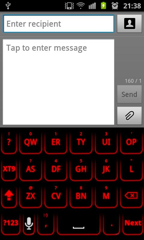Red Glow Keyboard Skin Pro - screenshot