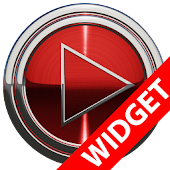 Poweramp widget - RED PLATIN