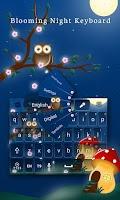 Screenshot of Blooming Night Keyboard Theme