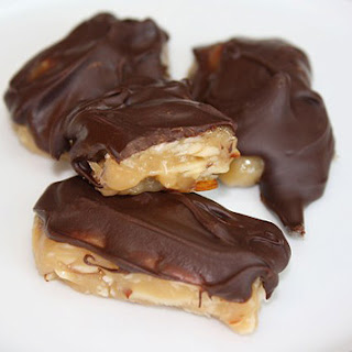 Honey Caramels with Chocolate, Almond and Coconut