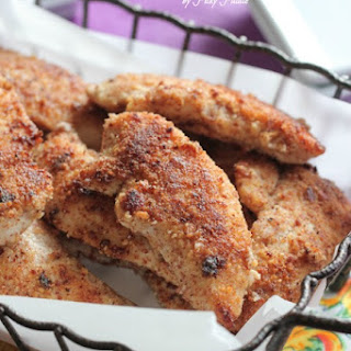 Almond Parmesan Crusted Chicken Tenders.
