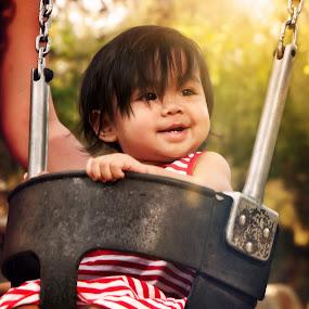 her first swing by Jefford Lorio - Babies & Children Children Candids