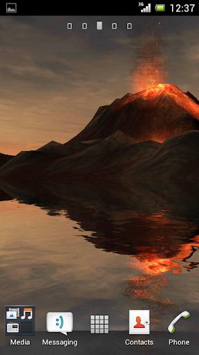 3D Volcano Live Wallpaper FREE