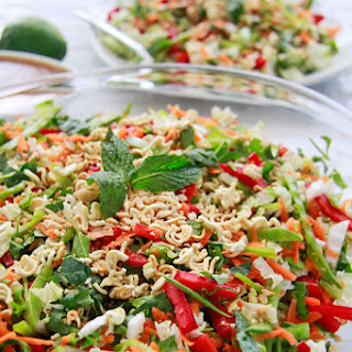 Chinese Salad with Crunchy Peanut Ginger Dressing.