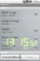 Screenshot of DIGI-CLOCK LiveWallpaper Trial