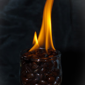 Flaming Cup of Joe by Brad Chapman - Artistic Objects Other Objects ( flames, flaming, coffee, flaming coffee, pwc, pwccoffee,  )