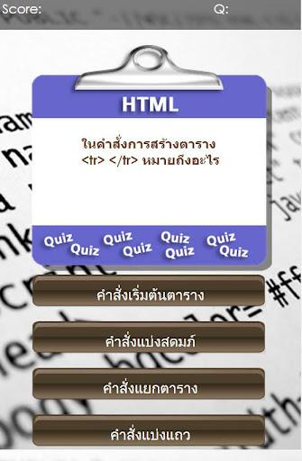 Quiz Basic HTML