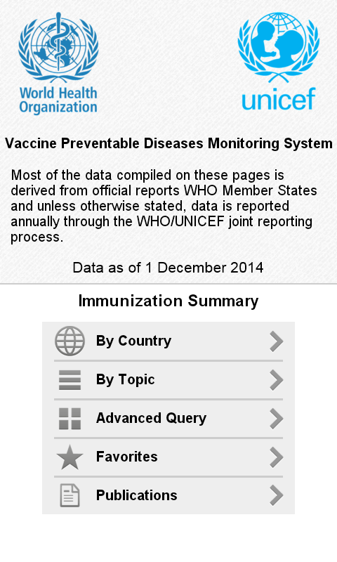 Immunization Summary - screenshot