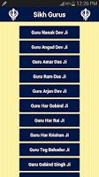 Screenshot of Sikh Gurus