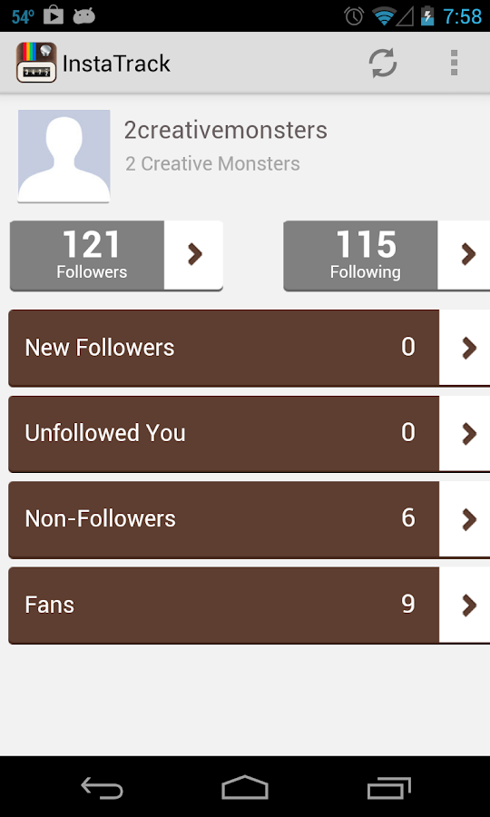 Instagram Followers Tracker - screenshot