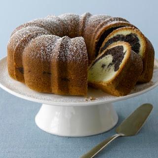 Rum-Scented Marble Cake