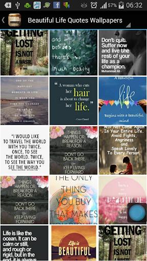 Beautiful Life Quote Wallpaper