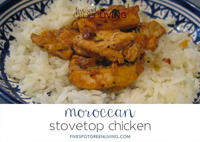 Authentic Stovetop Moroccan Chicken Recipe with Rice Recipe