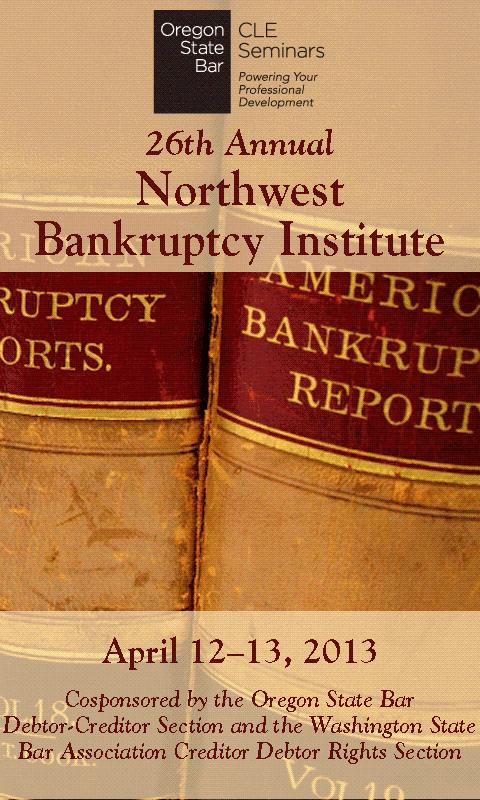 2013 NW Bankruptcy Institute - screenshot