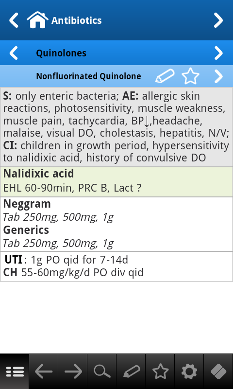 Antibiotics pocket - screenshot