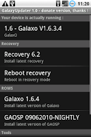 Screenshot of GalaxyUpdater Full
