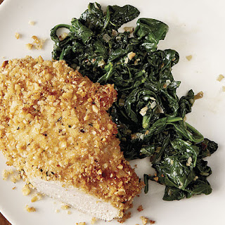 Oven-Fried Chicken Cutlets with Hazelnuts