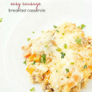 Easy Sausage Breakfast Casserole.