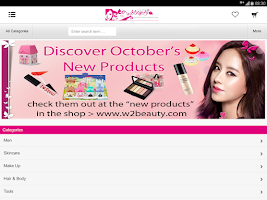 Screenshot of W2Beauty Korean Cosmetic