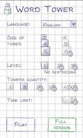 Screenshot of Word Tower Free (word game)