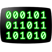 CRT Binary Clock Widget