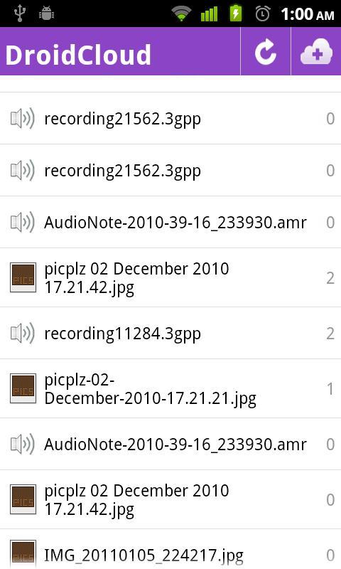 DroidCloud - Pro - screenshot