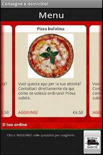 Pizza da asporto a Domicilio - screenshot thumbnail