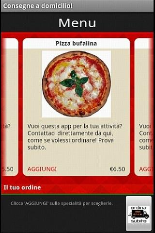 Pizza da asporto a Domicilio - screenshot