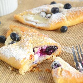 Blueberry & Honey Cream Croissants