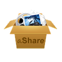 aShare – over the air sharing logo