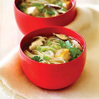 Shiitake Mushroom and Tofu Soup.