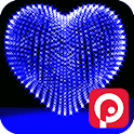 3D Valentine Day Heart Live icon