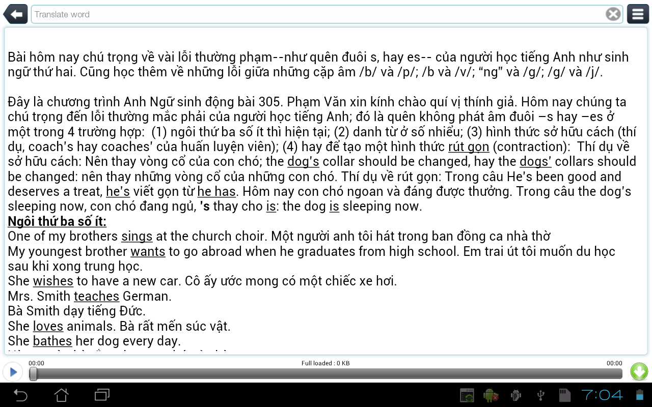 Luyen Nghe Tieng Anh TFLAT - screenshot