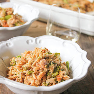 Baked Orzo with Broccolini, Sausage and Fontina