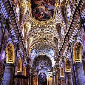 San Luigi dei Francesi church by Stefano Landenna - Buildings & Architecture Places of Worship ( rome, cathedral, gold, italy )