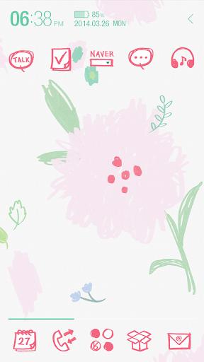 baby pink flower_ATOM theme