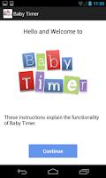 Screenshot of Newborn Baby Timer