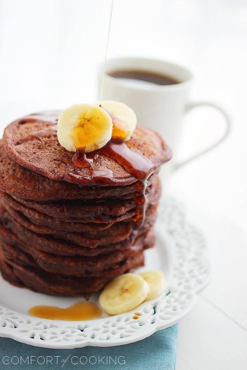 Fluffy Chocolate Banana Pancakes Recipe
