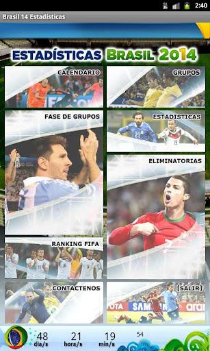 Brasil 2014 Estadisticas
