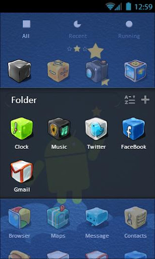 【免費個人化App】Jelly Blocks GO Launcher Theme-APP點子