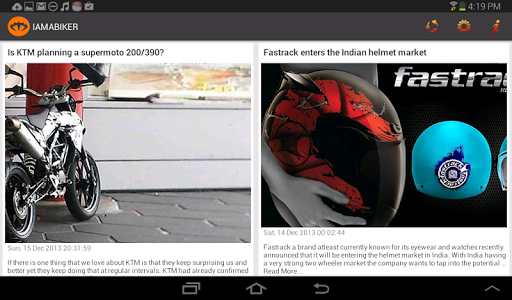 IAMABIKER News Reader screenshot 4