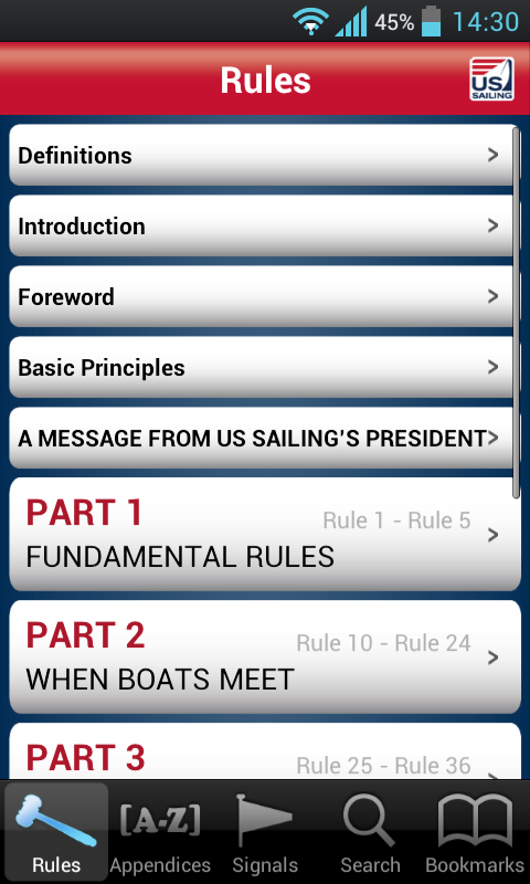 The Racing Rules of Sailing - screenshot