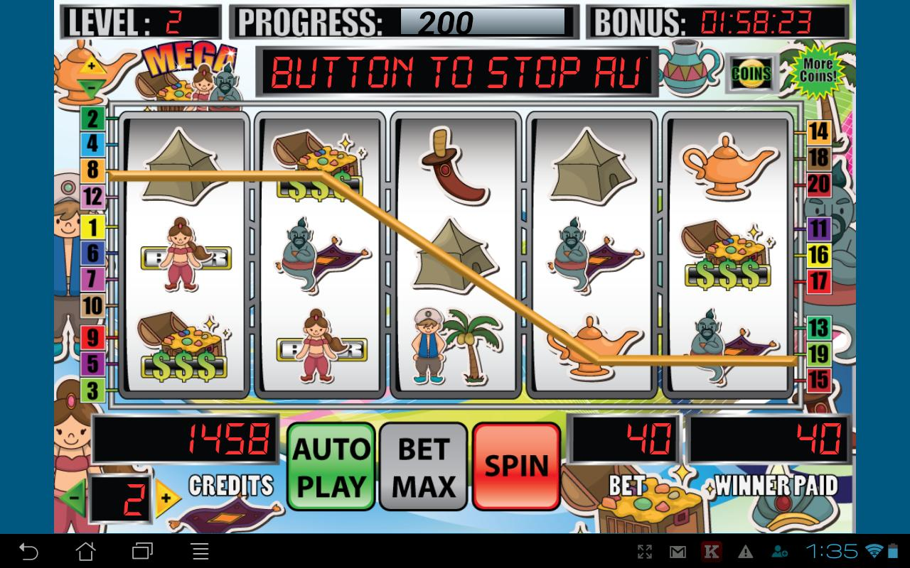 Mega Genie Slot Machine - screenshot