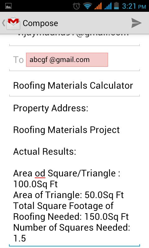 Roofing materials calculator android apps on google play for Cost to roof a house calculator