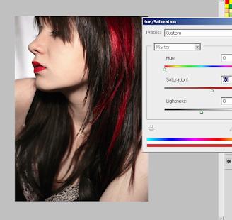 改變頭髮顏色照片