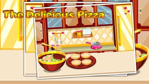 The delicious pizza