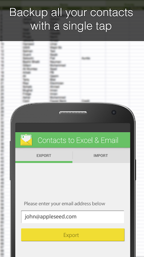Contacts Backup--Excel Email