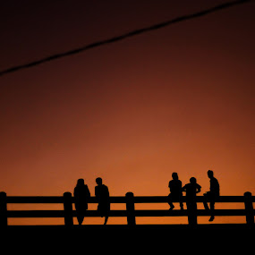 Sunset and Silhouettes  by Krizzel Almazora - People Street & Candids (  )