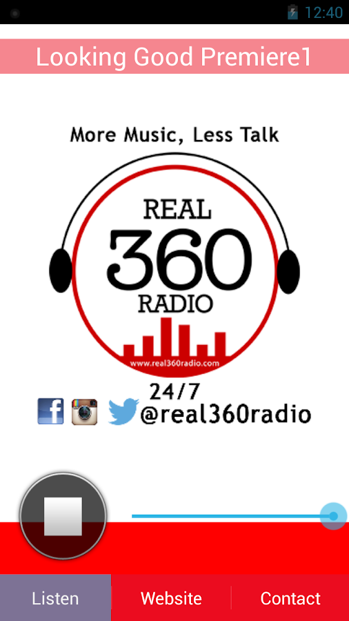 Real 360 Radio- screenshot
